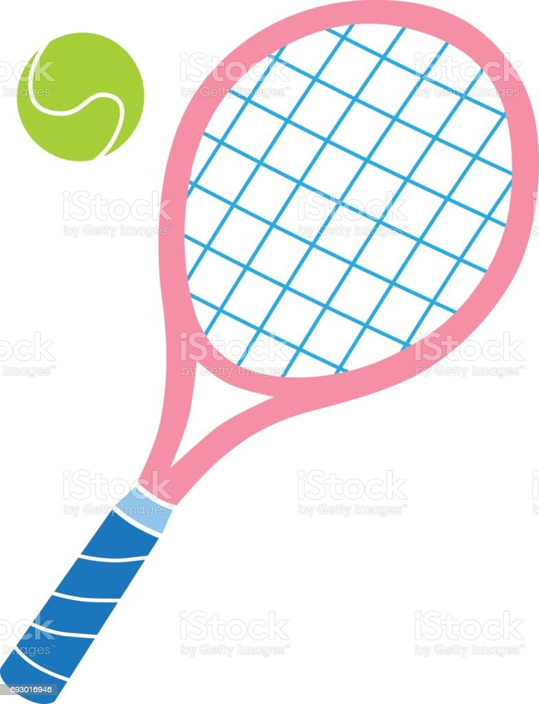 royalty free pink tennis racket clip art vector images rh istockphoto com tennis racket clipart tennis racquet clipart free