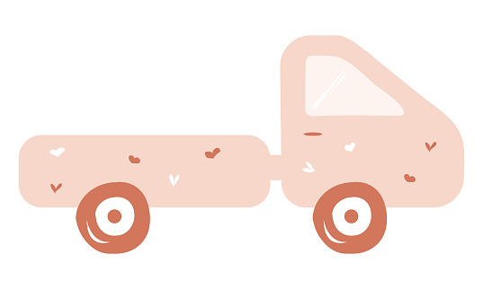 pink toy truck