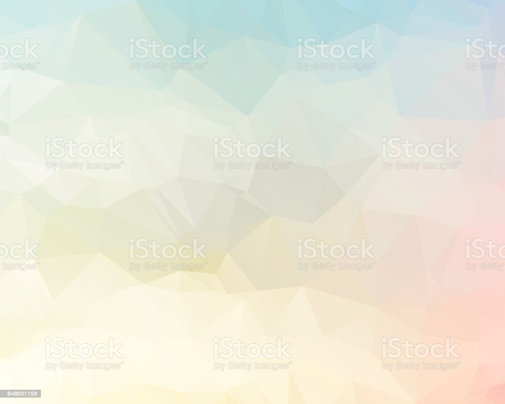 Pink Triangle Background Design Geometric In Origami Style With Gradient Royalty Free