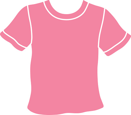 Pink t-shirt icon