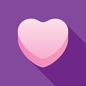 istock Pink Valentine Candy Heart 1201757910