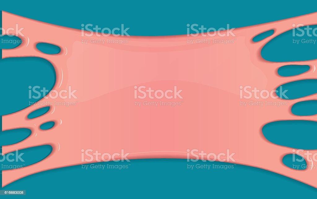 Pink vector background with bubblegum. vector art illustration