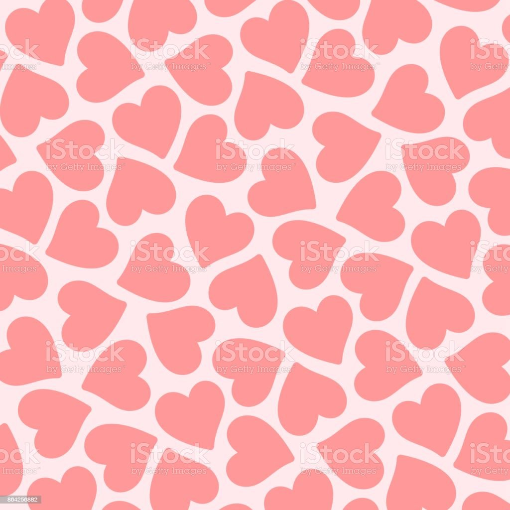 Pink vector flat hearts pattern. Valentines day card royalty-free pink vector flat hearts pattern valentines day card stock vector art & more images of abstract