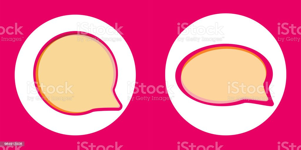 Pink vector speech bubbles royalty-free pink vector speech bubbles stock vector art & more images of abstract