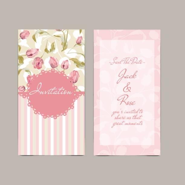 pink wedding card pink wedding card shabby chic stock illustrations