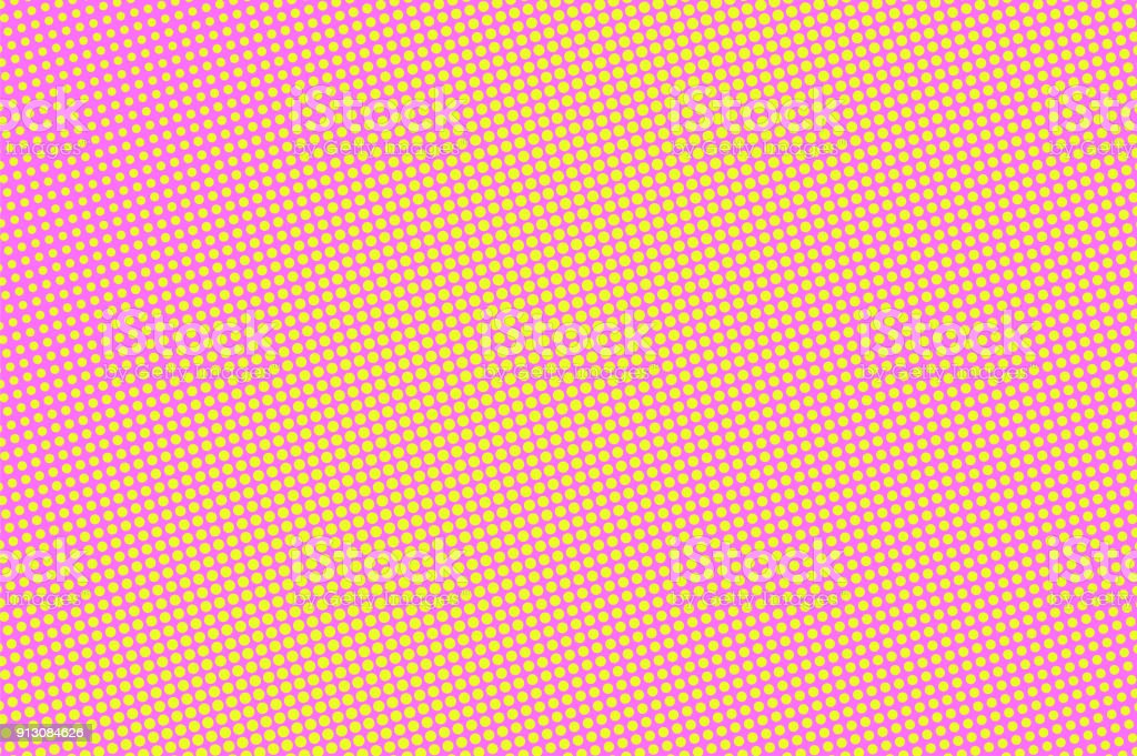 Pink Yellow Dotted Halftone Vector Background Playful Colors Banner Template Royalty Free