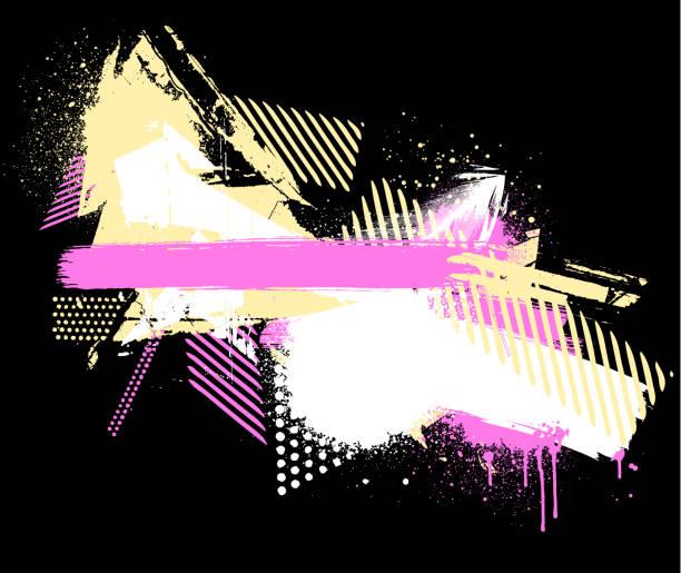 pink yellow textured grunge background vector art illustration