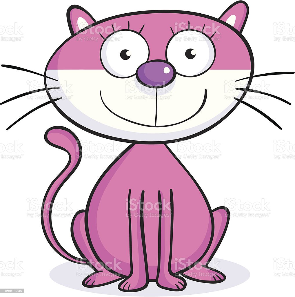 Pinky Cat royalty-free stock vector art