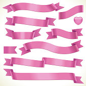 Pink banners and ribbons