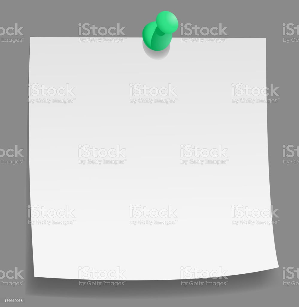 Pinned note royalty-free pinned note stock vector art & more images of announcement message