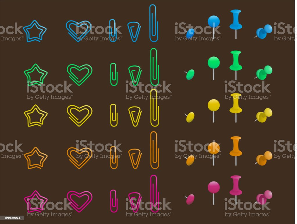 Pins and clips Hitch Set royalty-free pins and clips hitch set stock vector art & more images of arranging