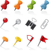 Set of various clips and pins. Includes Jpg & transparent PNG