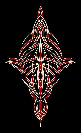 pinstripe flourish