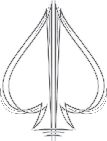 Pinstripe Spade
