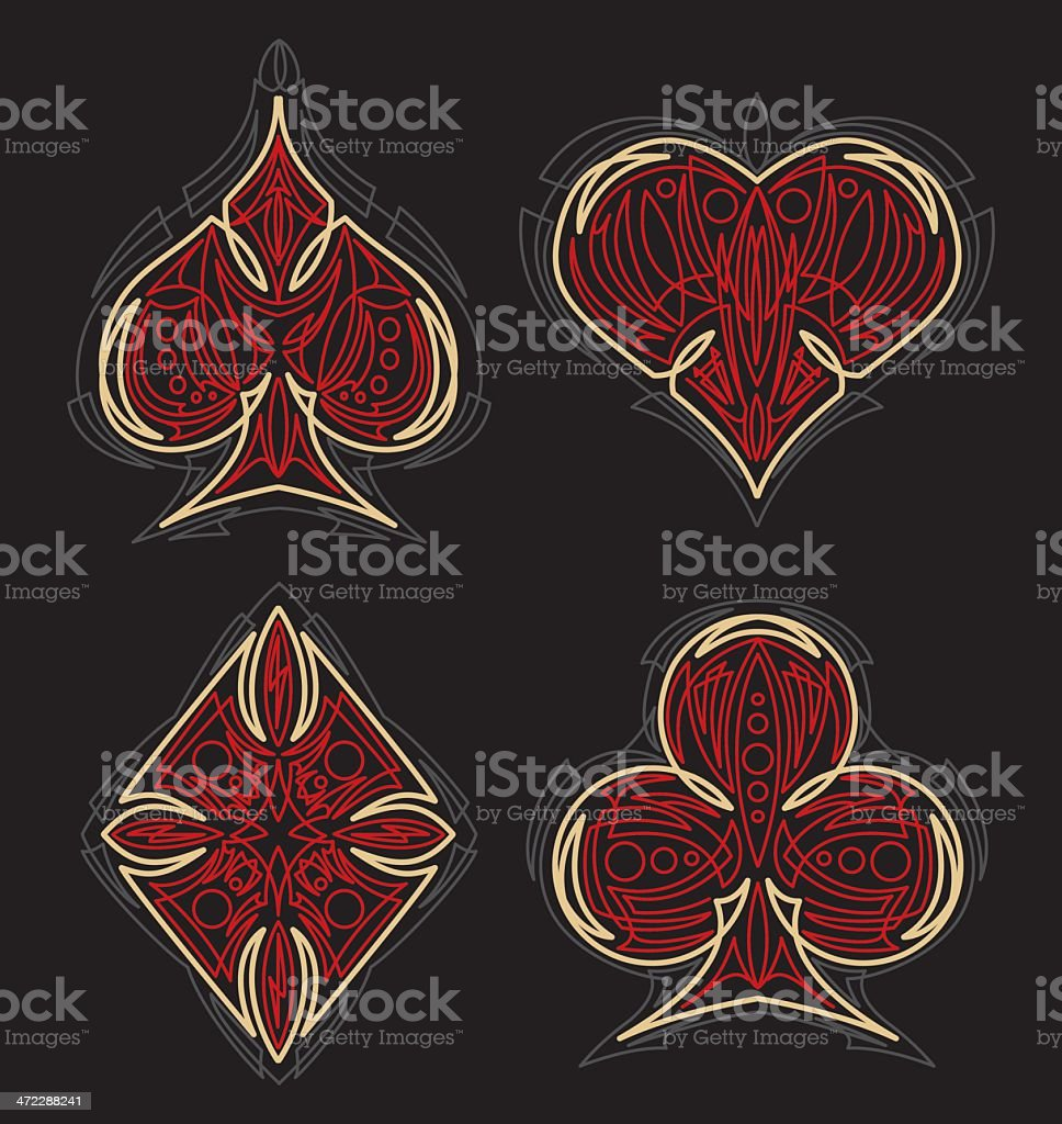 pinstriped card suit royalty-free pinstriped card suit stock vector art & more images of cartoon