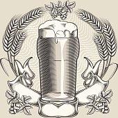 Vintage decorative design, layered vector artwork