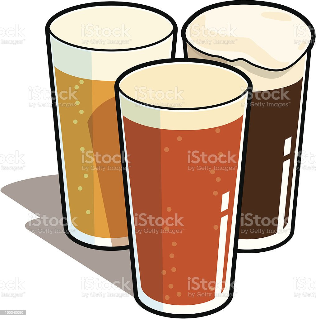 Pints royalty-free stock vector art