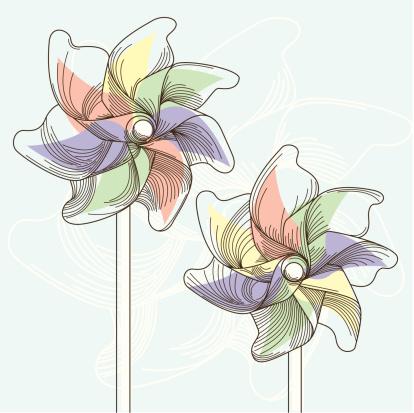 Pinwheels in Summer