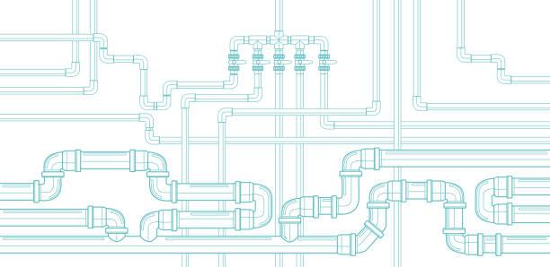 bildbanksillustrationer, clip art samt tecknat material och ikoner med pipe background_2 - water pipes