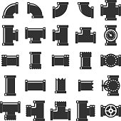 Pipe itting vector set.
