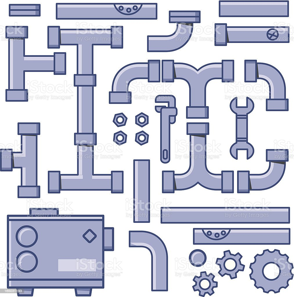 Pipe System royalty-free stock vector art