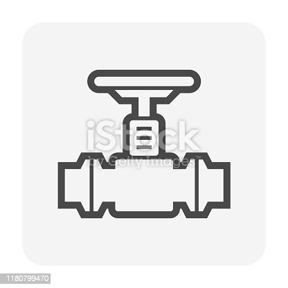 Oil gas pipe and valve vector icon design for oil gas industrial concept design.