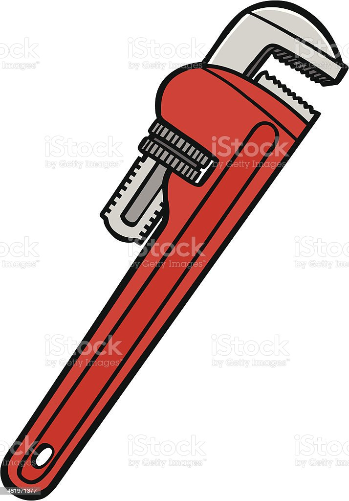 royalty free pipe wrench clip art vector images illustrations rh istockphoto com