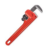 Pipe Wrench - Vector