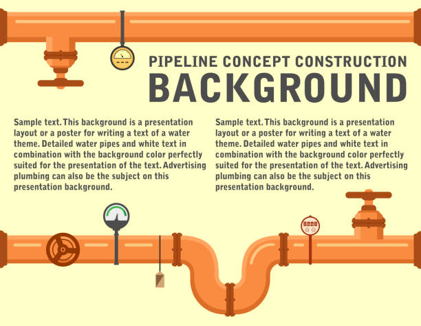 pipeline background for water supply or another industrial theme - flange stock illustrations, clip art, cartoons, & icons