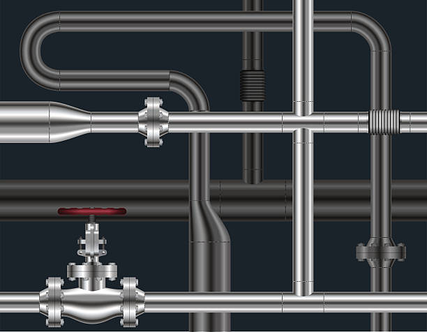 pipeline background. vector illustration. - flange stock illustrations, clip art, cartoons, & icons
