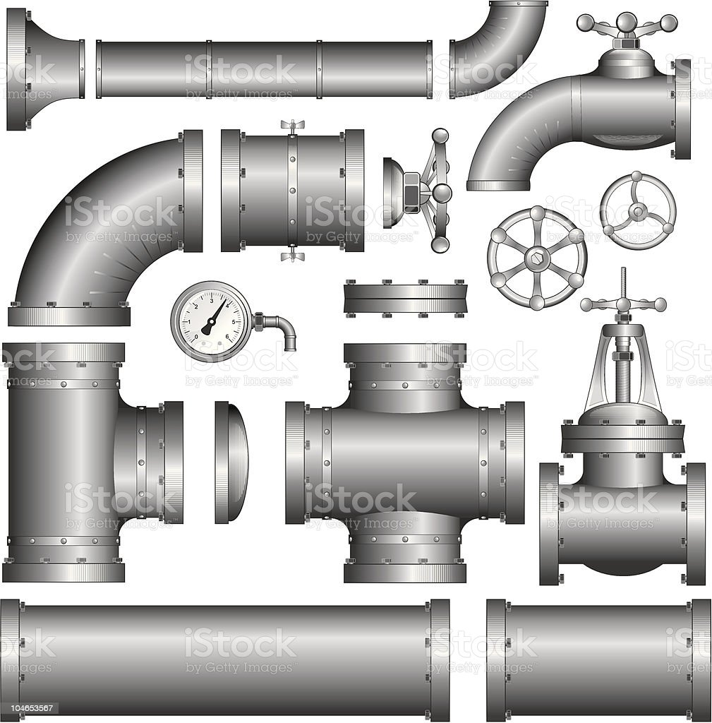 Pipeline Pipe. Vector Clipart royalty-free pipeline pipe vector clipart stock vector art & more images of air valve