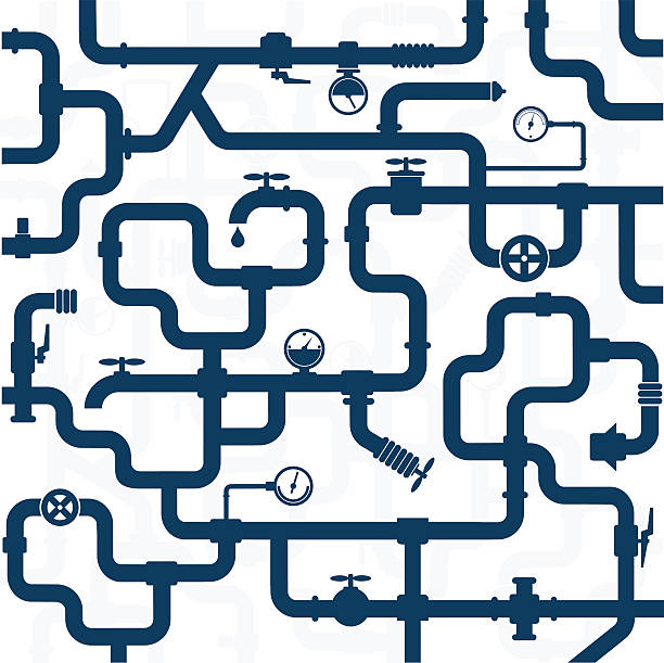 rurociąg wodno-kanalizacyjna - tap water stock illustrations