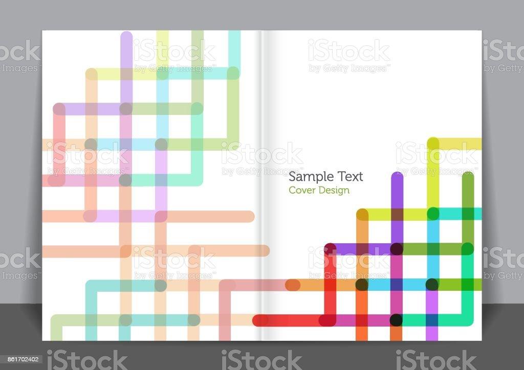 Pipes Cover design vector art illustration