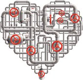 Pipes Heart