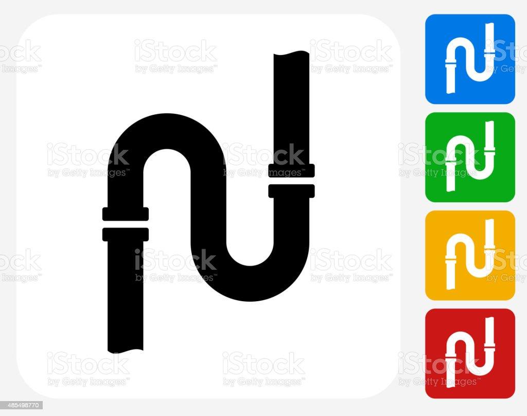 tuberías de iconos planos de diseño gráfico illustracion libre de