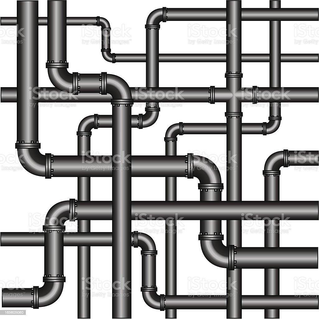 Pipes vector art illustration