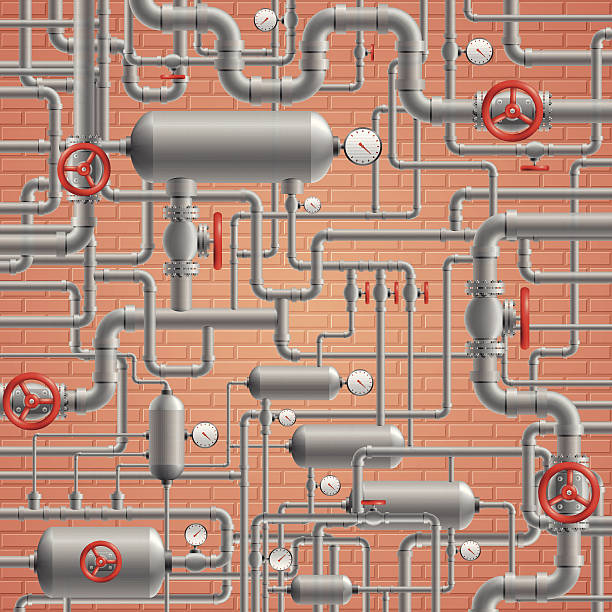 przewody rurowe - tap water stock illustrations