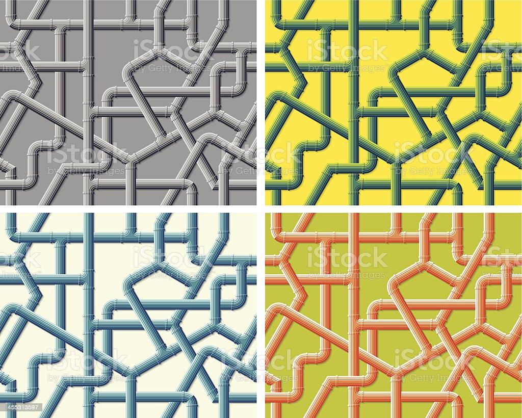 Pipework - Seamless Pattern vector art illustration