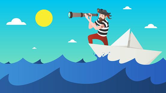 Pirat with Spyglass