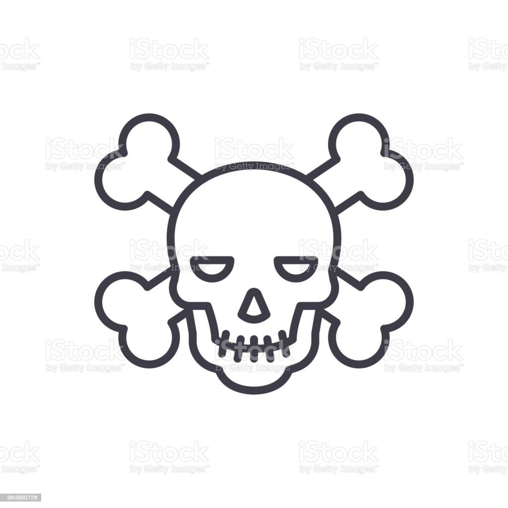 Pirate activity black icon concept. Pirate activity flat  vector symbol, sign, illustration. royalty-free pirate activity black icon concept pirate activity flat vector symbol sign illustration stock illustration - download image now