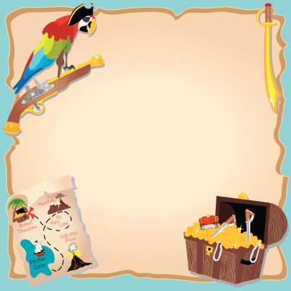 Pirate Birthday Party and treasure hunt Invitation