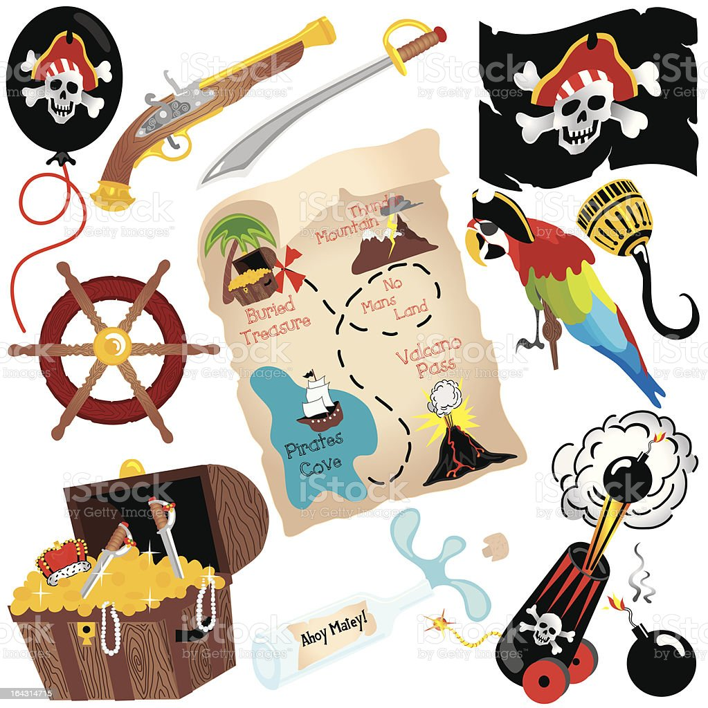 Pirate Birthday Party Clip art royalty-free stock vector art