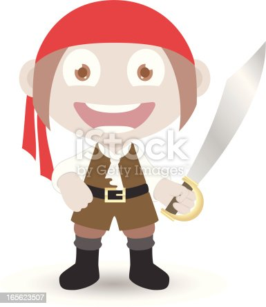 istock Pirate boy with sword 165623507