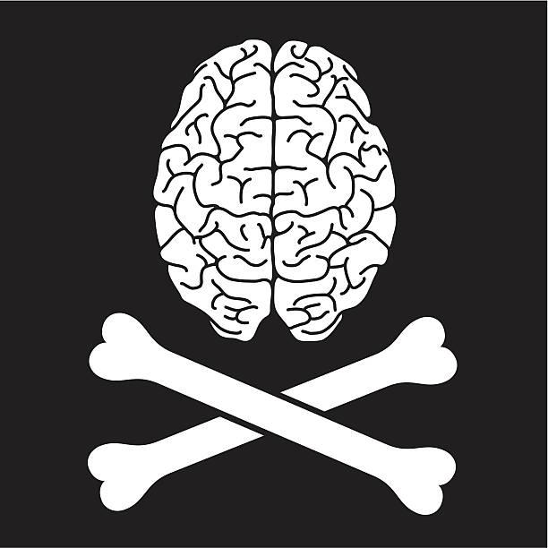 pirate gehirn - sensorischer impuls stock-grafiken, -clipart, -cartoons und -symbole