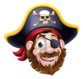 istock Pirate Captain Cartoon Character Mascot 1291627263