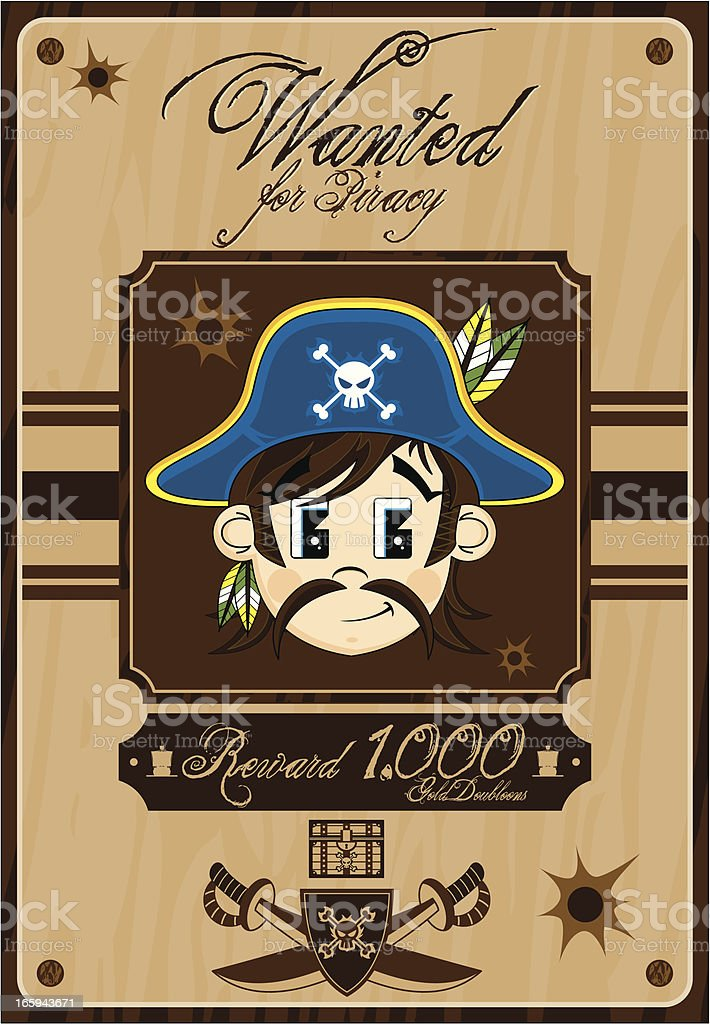 Pirate Captain Wanted Poster royalty-free pirate captain wanted poster stock vector art & more images of beard