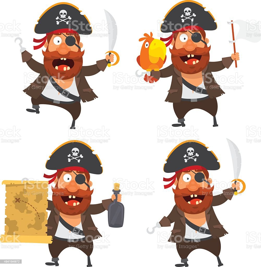 Pirate character vector art illustration