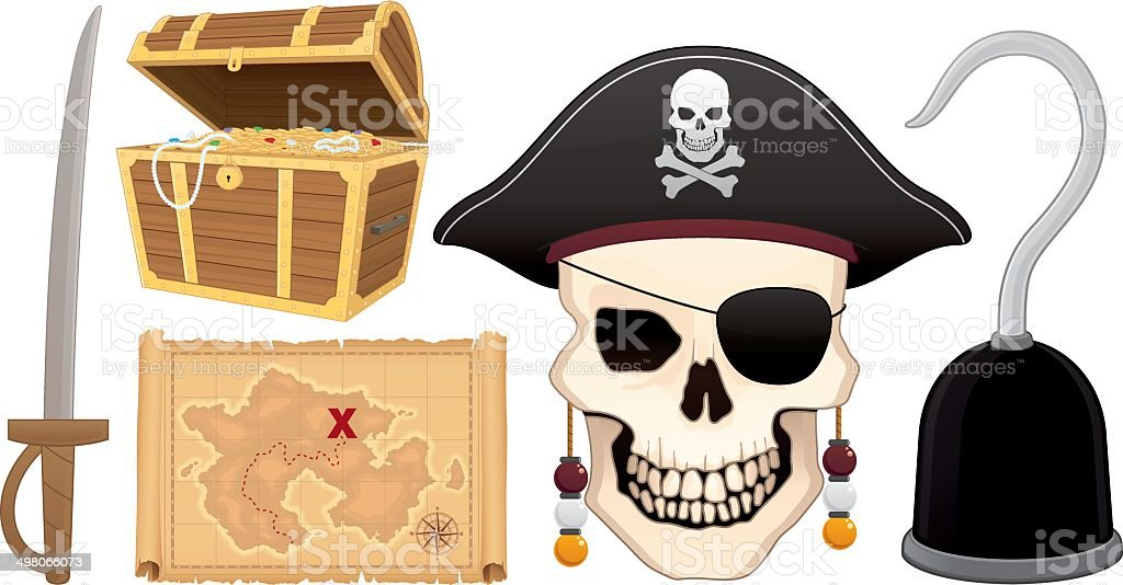 Pirate Collection royalty-free pirate collection stock vector art & more images of abundance
