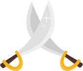 Pirate crossed swords