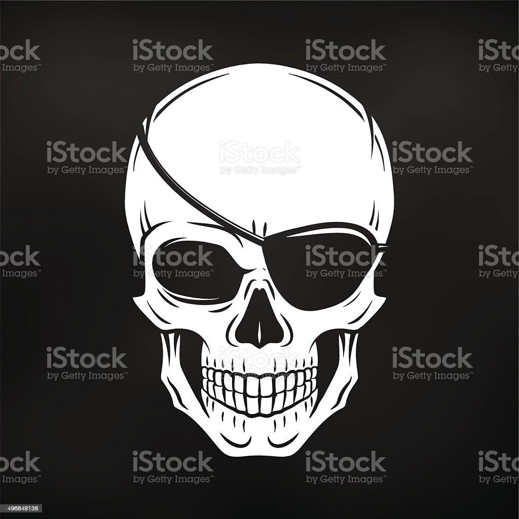 悪海賊頭蓋骨ベクトルしますロジャージョリーに eyepatch テンプレート